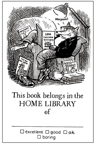 Posy Simmonds's bookplate #1