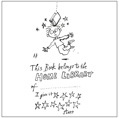 Quentin Blake's bookplate #4