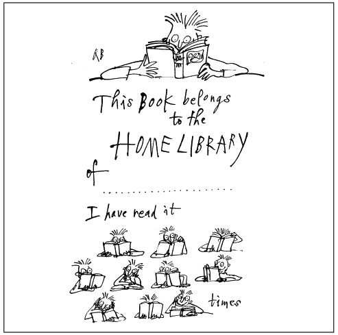 Quentin Blake's bookplate #5