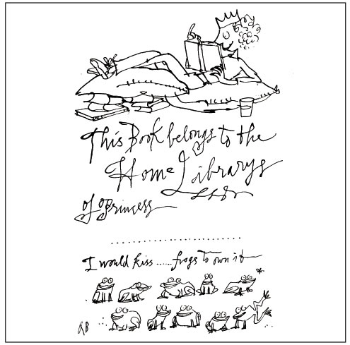 Quentin Blake's bookplate #6
